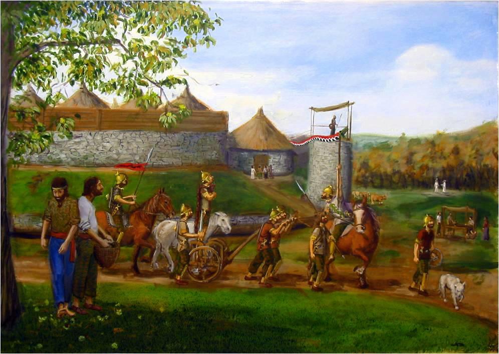 Samaín no castro de Quintá, O Val, por Carlos Alfonzo, asesorado por A. Pena.