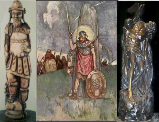 """Bandua, raíz *bhend, """"atar"""", o que se ata [para morrer loitando de pe]. As bandas de bandidos e os bandoleiros estan atadas ao seu xefe. O mesmpo poder vinculante o teñen os vexilla ou bandeiras. A título de curiosidade os cabaleiros crearan en tempos de Alfonso XI, a Orden da Banda"""
