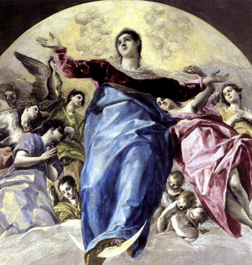 The_Assumption_of_the_Virgin_por_el Greco copiadetalle
