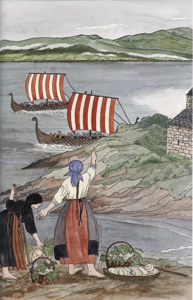 Vikingos en San Martiño de Xuvia. Eva Merlán Bollaín (ex Pena)
