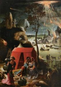 loth e suas filhas Lucas van Leiden. Louvre