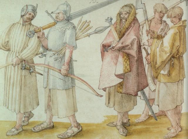 Galloglass-circa-1521 Alberto durero