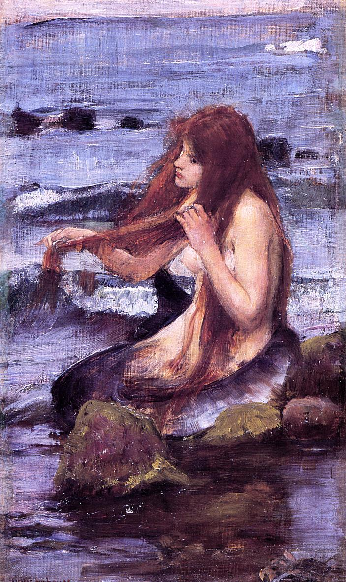 sketch-for-a-mermaid-1892 John William Waterhouse