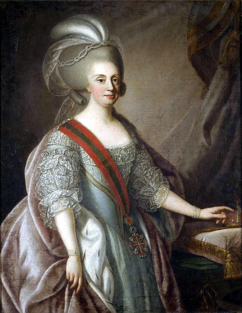 Maria I de Portugal. Tomas Hickey ou Giuseppe Troni