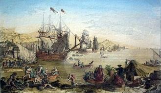 Saida da flota de Cádiz para Veracruz