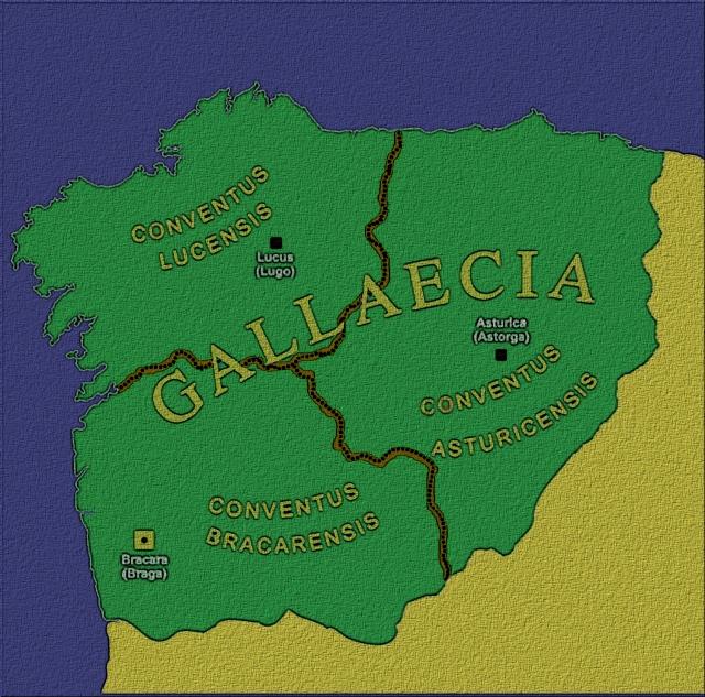 os romanos, está claro, non se complicaron a vida organizando aos pobos celtas, os seus jurisperitos, como conta Tácito, adaptándose ao pre existente usaron no seu beneficio o dereito, a organización e a estrutura social celta .