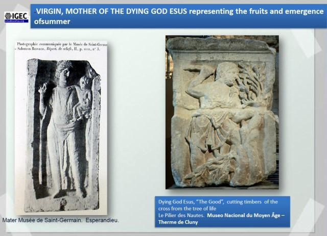 A Mater. Virxe nai de Esus. (Promtema de A. Pena)