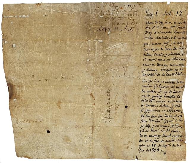 Documentos de la Sección de Códices del Archivo Histórico Nacional